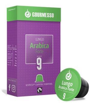 Lungo Arabica Forte Fairtrade, Gourmesso – 10 kapsúl pre Nespresso kávovary