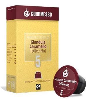 Soffio Gianduia Caramello (krokant), Gourmesso – 10 kapsúl pre Nespresso