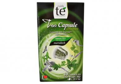 Upraženo - Čaj zelený Marrakech, Cuida Té - 10 kapsúl pre Nespresso kávovary