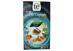 Čaj zelený Mediterranean, Cuida Té - 10 kapsúl pre Nespresso kávovary (Expirace 10/2020)
