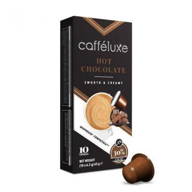 Upraženo - Horúca čokoláda – Hot Chocolate, Cafféluxe – 10 kapsúl pre Nespresso kávovary