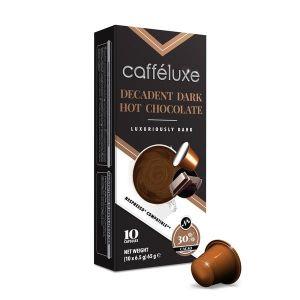 Horúca čokoláda - Dark Hot Chocolate, Cafféluxe - 10 kapsúl pre Nespresso kávovary