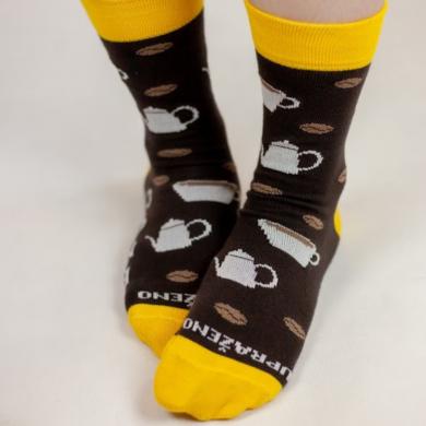 Upraženo -  Univerzálny pár ponožiek s potlačou zrniek