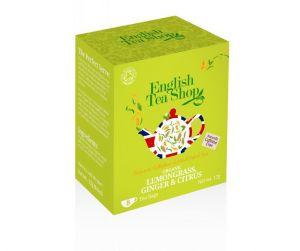 English Tea Shop BIO čaj Citrónová tráva, zázvor a citrusy - 8 sáčkov