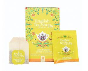 English Tea Shop BIO čaj Citrónová tráva, zázvor a citrusy - 20 sáčkov
