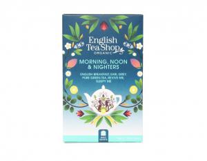English Tea Shop Mix BIO čajov Ráno, poludnie a ponocovači - 20 sáčkov