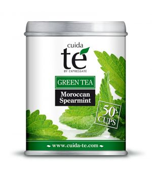 Sypaný zelený čaj Moroccan Spearmint, Cuida Té 100 g