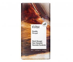 Vivani Horká čokoláda NUGÁTOVÁ BIO vegan - 100 g