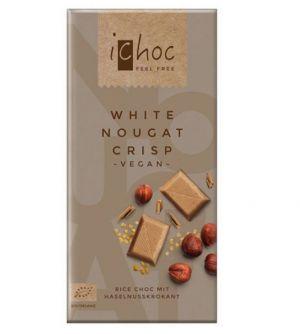 iChoc BIO vegan BIELA nugátová ryžová čokoláda - 80 g