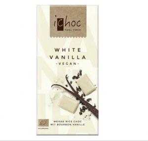 iChoc BIO vegan BIELA VANILKOVÁ ryžová čokoláda - 80 g