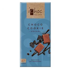 iChoc BIO vegan CHOCO COOKIE ryžová čokoláda - 80 g