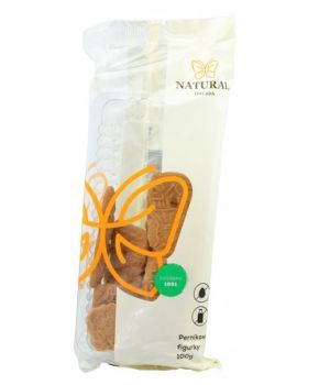 Perníkové celozrnné sušienky bez vajec a mlieka, Natural - 120 g