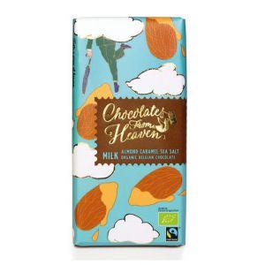 Chocolates from Heaven BIO mliečna čokoláda sa zkaramelizovanými mandľami a morskou soľou 37% - 100 g