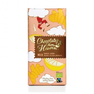 Upraženo - Chocolates-From-Heaven-BIO-mlecna-cokolada-se-zazvorem-a-citronem-37%-100g