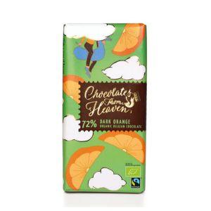 Chocolates from Heaven BIO horká čokoláda s pomarančom 72% - 100 g