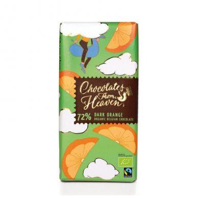 Upraženo - Chocolates-From-Heaven-BIO-horka-cokolada-s-pomerancem-72%-100g
