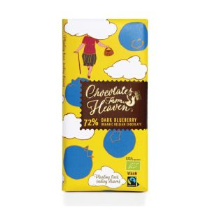 Chocolates from Heaven BIO horká čokoláda s čučoriedkami 72 % - 100g