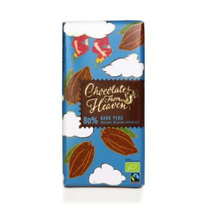 Chocolates from Heaven BIO horká čokoláda Peru 80 % - 100 g