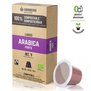 Eco Line Lungo Arabica Forte, Gourmesso - 10 kompostovateľných kapsúl pre Nespresso kávovary