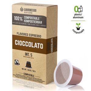 Eco Line Cioccolato, Gourmesso - 10 kompostovateľných kapsúl pre Nespresso kávovary