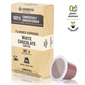 Eco Line White Chocolate, Gourmesso - 10 kompostovateľných kapsúl pre Nespresso kávovary